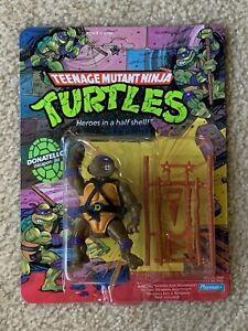 TMNT 1988 Teenage Mutant Ninja Turtles Donatello Action Figure Sealed MOC Nice!