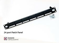 24 port patch bay panel gigabit ready rack mounted krone type  cat5e