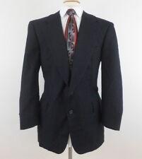 Vtg HICKEY FREEMAN Boardroom 44S Bespoke Navy Wool Pinstripe 2 Btn Blazer Jacket