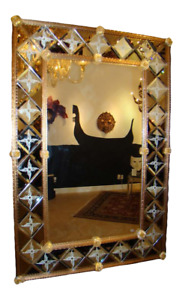 Venetian Estate Beveled Mirror by Fratelli Barbini of Murano