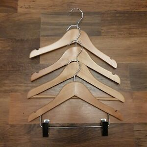 Kids Four Mixed Wooden Coat Hangers 12""