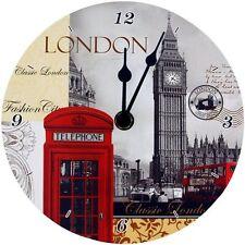 NUOVA scena di Londra Orologio 17 cm Orologio Da Parete Nuovo di Zecca LP19987