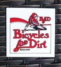 VTG CYCLING STICKER / DECAL 1980s 'BICYCLE & DIRT BIKE MAGAZINE' (OLD SKOOL BMX)