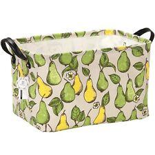 Stylish Pear Design Canvas Linen Fabric Storage Basket Nursery Bin Toy Organiser