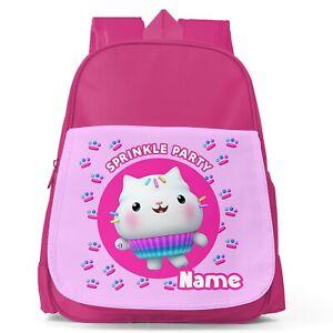 Personalised Gabbys Dollhouse Girls Kids Toddler School Nursery Bag Backpack