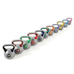 York Kettlebell Vinyl Weight Training Gym Exercise Workout Fitness 2-20kg