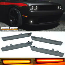 2015-2018 Dodge Challenger LED Optic Style Side Marker Lights Smoke Front & Rear