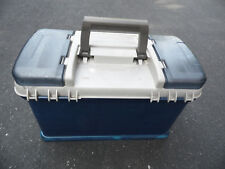 Plano 7271 Fishing Tackle Box Compartments Crafts Storage Carry Case Blue Grey
