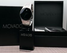 Swiss Movado Strato Classic Black Dial S.Steel Model # 0605608 Men's Wrist Watch