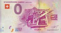 BILLET 0  EURO STANSERHORN CABRIO SUISSE  2019 NUMERO 007