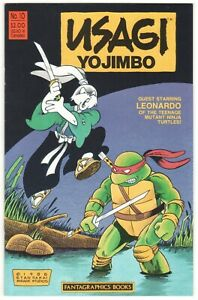 Usagi Yojimbo #10 ~ FANTAGRAPHICS 1988 ~ Stan Sakai TMNT Leonardo VF/NM