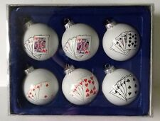 Vegas 5 Card Draw Poker Flush Straight Trim A Home 6 Holiday Christmas Ornaments