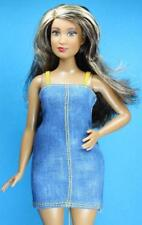 Barbie Fashionistas #32 Dolled Up in Denim CURVY Pull on Stretch Dress
