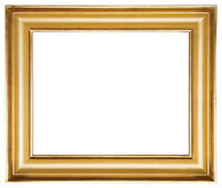 6 x 8   Picture Frame HandApplied Gold Leaf Gallery Style Frame