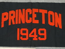 "Vintage 1949 PRINCETON Collegiate Banner ORANGE on BLACK 33"" X 68"" Exc Cond"