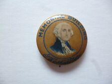 President George Washington Memorial Building Meyers Tin Button Badge Pin c1900s
