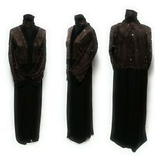 Nuevo Mujer Cerrados Delantero Abaya /Vestido/Islámico Maxi Ropa / Saudi Vestido