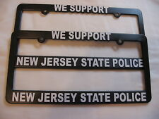 NEW JERSEY STATE POLICE LICENSE PLATE FRAMES