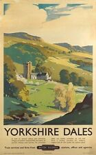Yorkshire Dales Vintage railway poster  Quality Photo print A4, or A5  movie