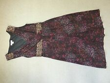 Monsoon black and gold sequin cocktail dress size 8 excellent condition