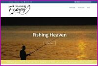 FISHING|ANGLING Website|$775.20 A SALE|FREE Domain|FREE Hosting|FREE Traffic