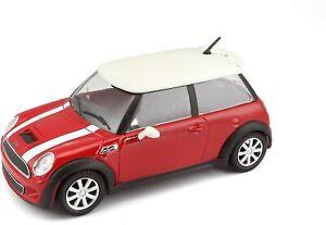 1/24 Bburago Mini Cooper S Rouge Neuf En Boîte Livraison Domicile