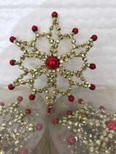 Seasons of Cannon Falls Set of 5 Snowflake Christmas Ornaments - New