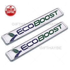 2x Ford ECOBOOST Fender Badge Logo Emblem 3D fits SUV 2011-2018 F-150 F150 OEM