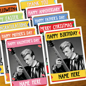 DAVID BOWIE Personalised Card ANY OCCASION - xmas, romantic, personalized