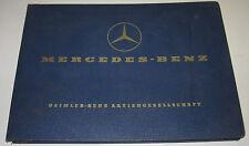 Ersatzteilkatalog Mercedes LKW Typ OM 352 / 110 PS Motor Engine Stand Juni 1968!