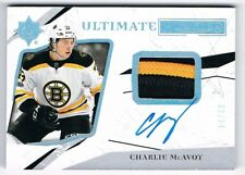 2017-18 Ultimate Collection Rookie Autograph Patch Auto #95 Charlie McAvoy 14/49
