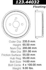 123.44032 - Centric Brake Drum, Priced to Sell!