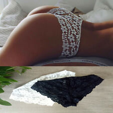 Women Transparent Lace Brief Lingerie G-string Thongs Panties Knickers Underwear