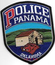 "*NEW*  Panama, Oklahoma  (4"" x 5"")  shoulder police patch (fire)"
