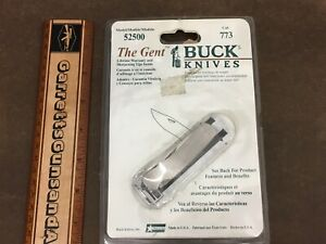 Buck 525 Gent Knife all stainless steel folding lockback USA made New old Stock