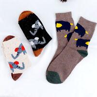 Warm Cute Elephant Animal Autumn Winter Sockshick Cartoon Women Wool Socks T