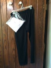 2 Pair Lace Leggings White One Black Med Large  See Measurements NWT not xxxL