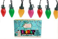 set of 40 coloured vintage retro style FESTOON fairy xmas christmas tree lights