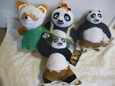 KUNG FU PANDA 3-Licensed SET of 4 Plush Soft Toy Doll BNWT LARGE SIZE Po,Shifu