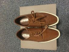 Brown Prada lace-up size 4 90%new