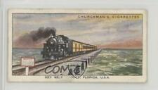 1937 Churchman's Wonderful Railway Travel #45 Key West Viaduct Florida USA 0as