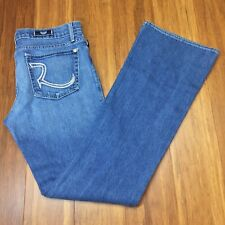 Rock & Republic Womens Size 30 Boot Cut Kasandra Jeans  Embroidered Pockets