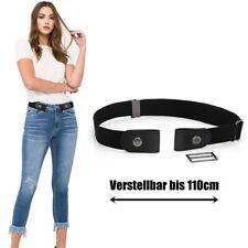 Stretchgürtel ohne Schnalle elastisch unsichtbar Gürtel Damen Herren bis 110cm