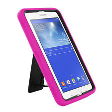 Hot Pink Hybrid Hard Case Skin Cover For Samsung Galaxy Tab 3 E Lite 7.0 T110