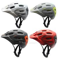 Cycling Bicycle Adult Mens Bike Helmet Red PC+EPS color With Visor Mountain