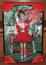 NOS 2000 COLLECTOR EDITION COCA-COLA CHEERLEADER BARBIE w/KEN VARSITY JACKET
