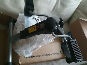 Exercise Bike Digital Pedal Arm Leg Aid Mini Folding Fitness Mobility Exerciser