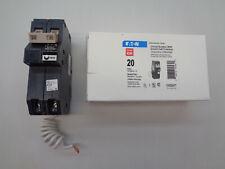 NEW Cutler Hammer CH220GFT 20 Amp 2 Pole Ground Fault GFCI Eaton Circuit Breaker