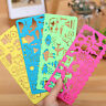 4X Plastic Picture Drawing Template Stencils Ruler Painting Kids DIY Easter B4A