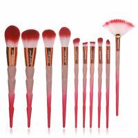Make Up Brush Set Second Glance Professional Flamingo 10 Pc Gift Kit Bag